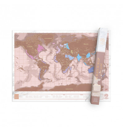 Scratch map - rose gold