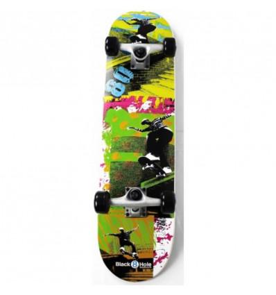"BLACK HOLE Skateboard 31"" - eighties"